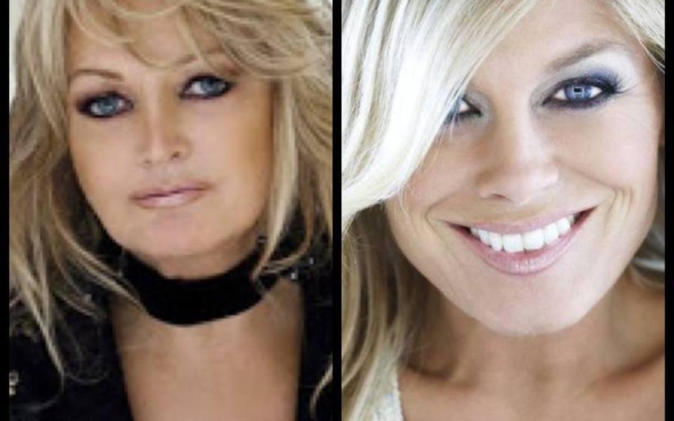 Bonnie V Pernilla. Photograph Eurovision Ireland