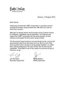 EBU Executive Supervisor (Jon Ola Sand) and EBU Event Supervisor) Response to Eurovision Ireland's Editorial Open Letter on GLBT challenges across Europe. Photograph property of Eurovision Ireland