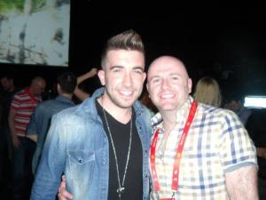 Garrett and Kurt Calleja at Eurovision 2012. Photograph Eurovision Ireland