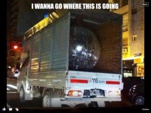 Eurovision Glitterball. Photograph courtesy of Facebook