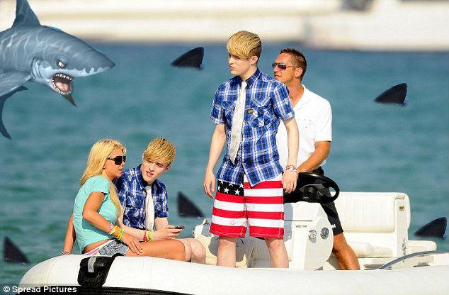 "Jedward to star in the Hollywood Movie ""Sharknando 2"" with their friend Tara Reid. Photograph courtesy of JedwardGenius"