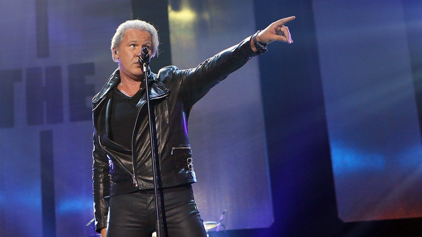 "Eurovision Legend Johnny Logan on the RTE show ""The Hit"". Photograph courtesy of RTE.ie"