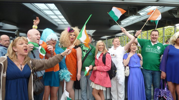 Irish Eurovision Fans look forward to Eurovision 2011 in Dusseldorf. Photograph Eurovision Ireland