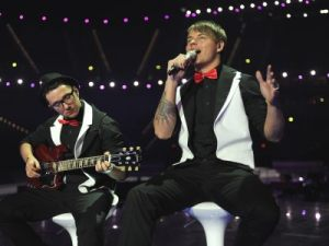 Latvian Eurovision 2011 Representative - Musiqq. Photograph courtesy of Alain Douit (EBU)