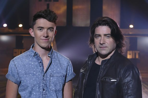 "Irish Eurovision Representative 2006 - Brian Kennedy looks like he may miss out on making the final of ""The Hit"" in Ireland to newcomer Ryan O'Shaughnessy. Photograph courtesy of Mirror.ie"