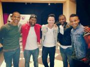 Ireland's Eurovision Hero Ryan Dolan and JLS. Photograph courtesy of Ryan Dolan Facebook