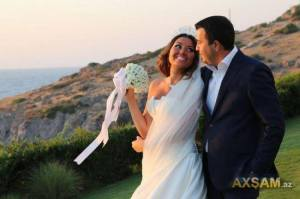 Safura - Azeri Eurovision Representative 2010 gets married. Photograph courtesy of axsam.az