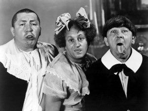 The 3 Stooges - Norwegian Eurovision Style. Photograph courtesy of fanpop.com