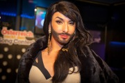 Conchita Wurst speaks out about discrimination. Photograph courtesy of wdr.de