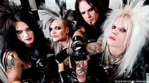 Metal/Rock Band Chrashdiet. Photograph courtesy of noisecreep.com