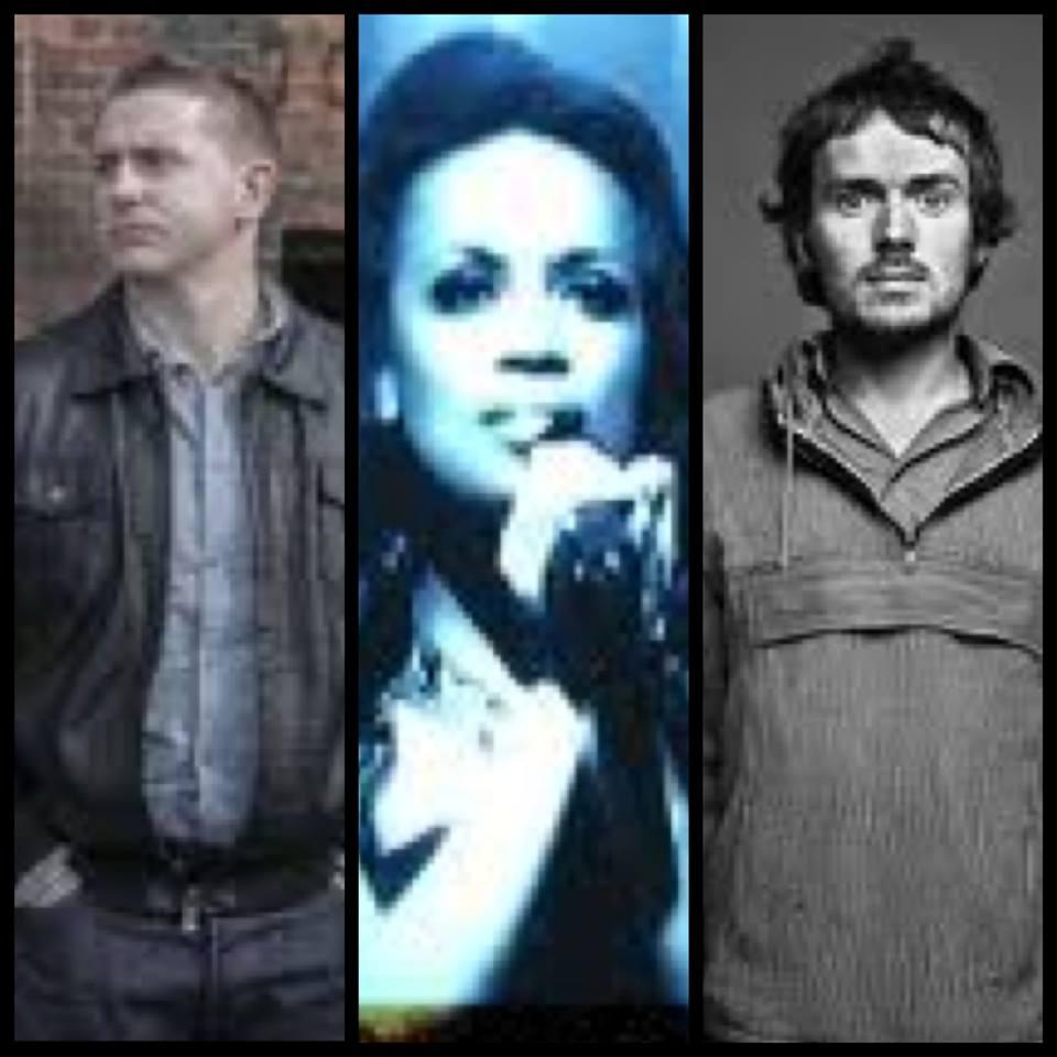 Damien Dempsey, Lucia Evans and Damien Rice. Photograph Eurovision Ireland