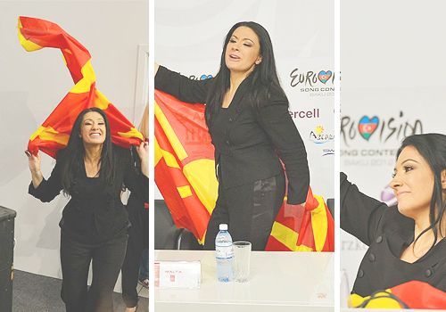 Kaliopi at Eurovision 2012. Photograph Courtesy of fyeaheurovision.tumblr.com