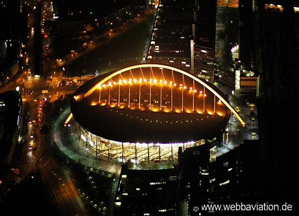 Lanxess Arena Cologne. Aerial photograph by www.webbaviation.co.uk