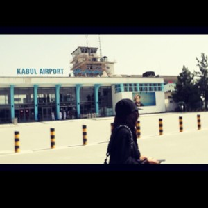 Loreen arrives in Kabul, Afghanistan. Photograph courtesy of Loreen Facebook