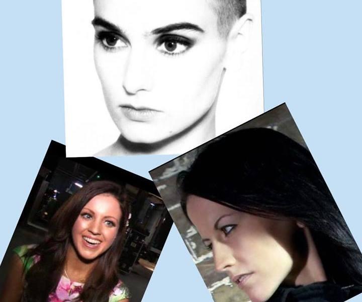 Sinead O'Connor - Melanie McCabe - Dolores O'Riordan. Photograph Eurovision Ireland
