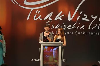 "Eldar Gasimov and Nigar Jamal Eurovision 2011Winners from Azerbaijan, helped launch ""TurkVision"". Photograph courtesy of DHA."