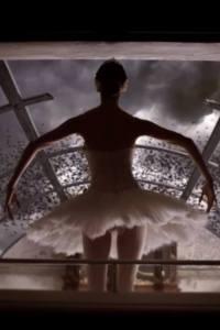 "Eurovision and Ballet. Anouk's ""Birds"". Photograph courtesy of YouTube"