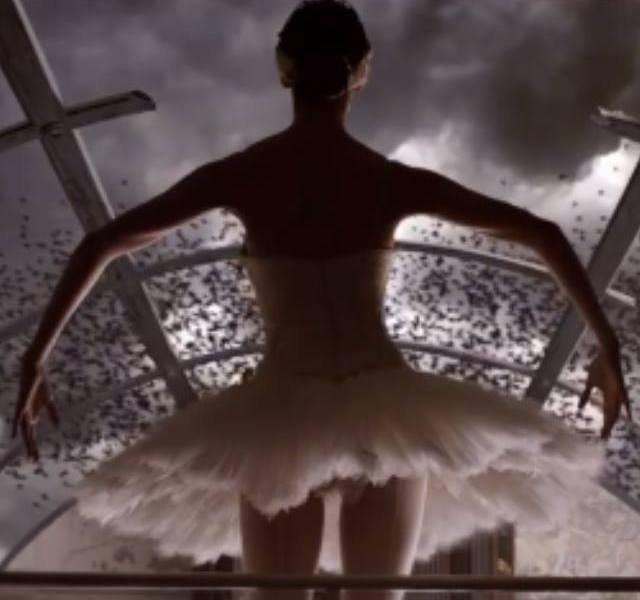 "Eurovision and Ballet. Anouk's ""Birds"". Photograph courtesy of YouTube"