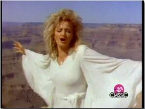 Bonnie Tyler - Holding Out For A Hero. Photograph courtesy of YouTube.