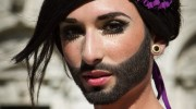 Conchita Wurst for Eurovision 2014. Photograph courtesy of cronicasdeeurofestivais