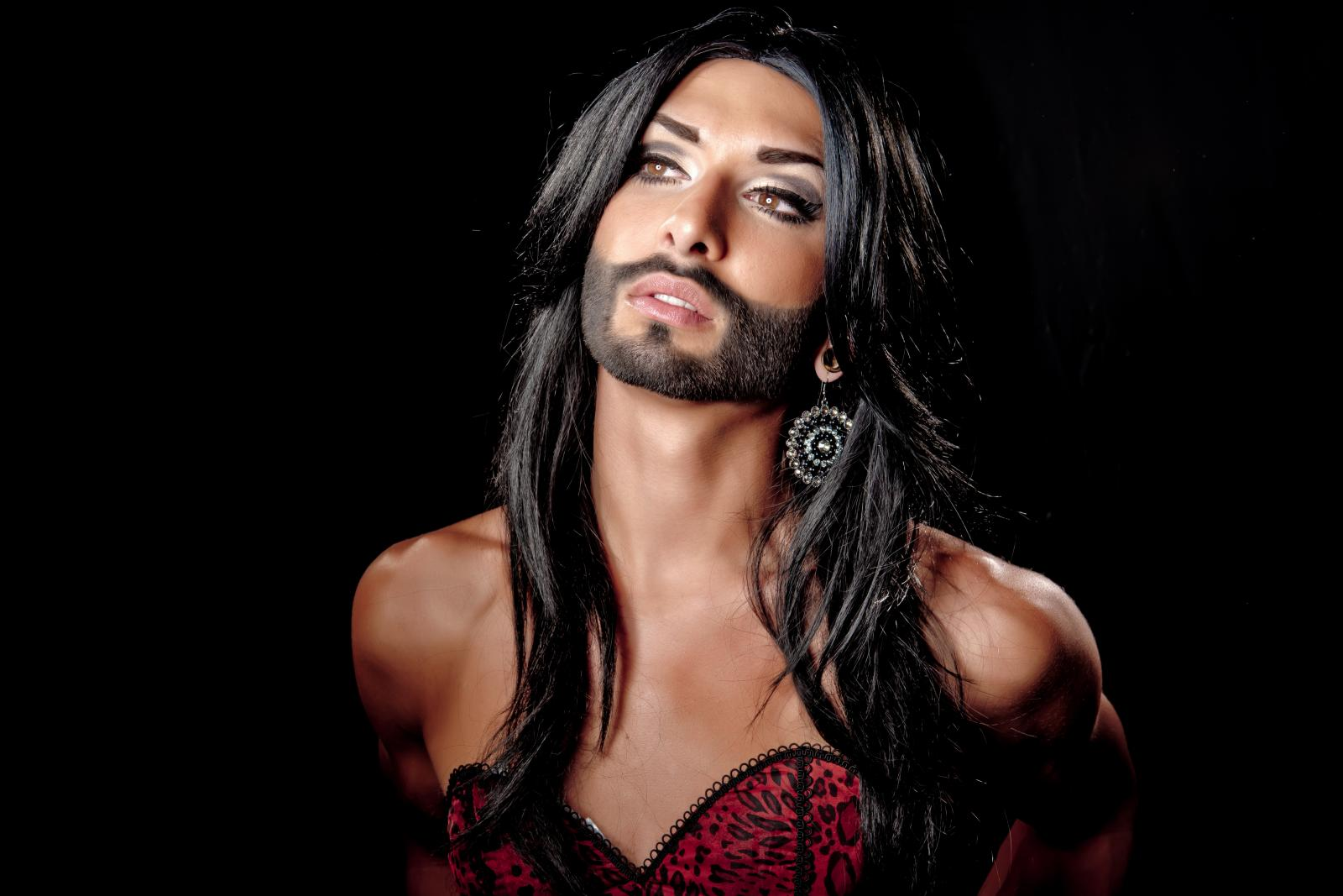 Conchita wurst and dana international in eurovision first star - Conchita Wurst Photograph Courtesy Of Imgur Com