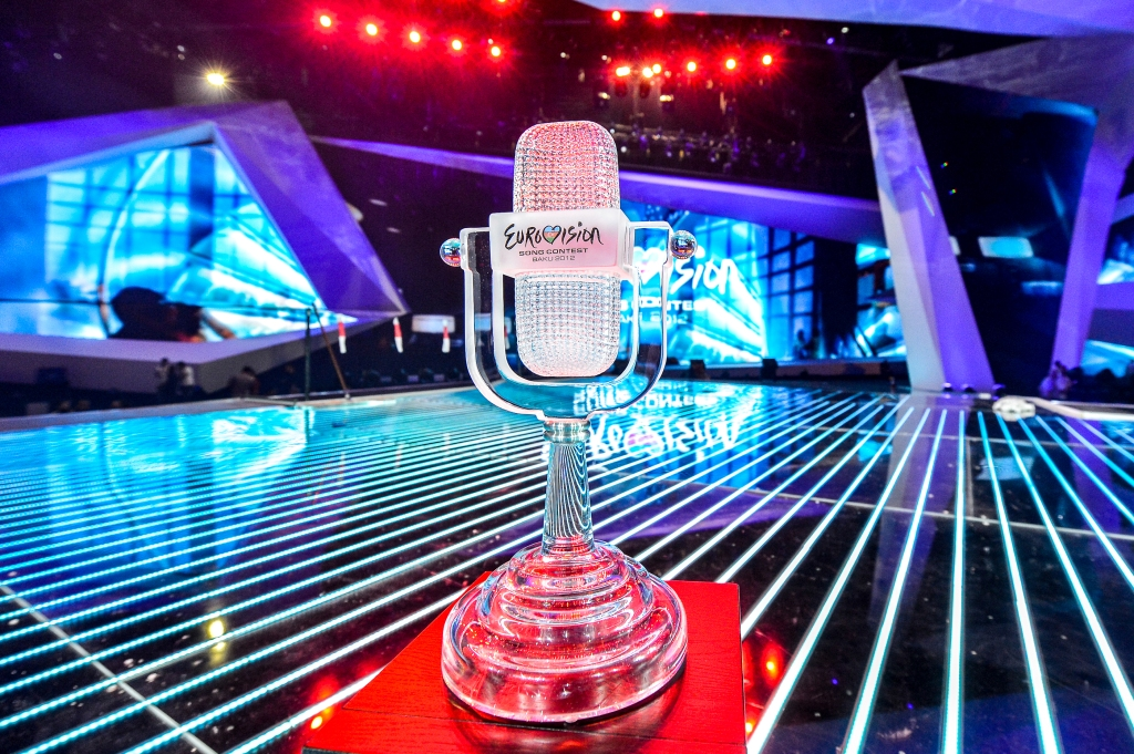 The Eurovision Trophy. Photograph courtesy of Andres Putting (EBU/EUROVISION)