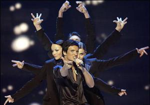 Koldun at Eurovision 2007. Photograph courtesy of YouTube