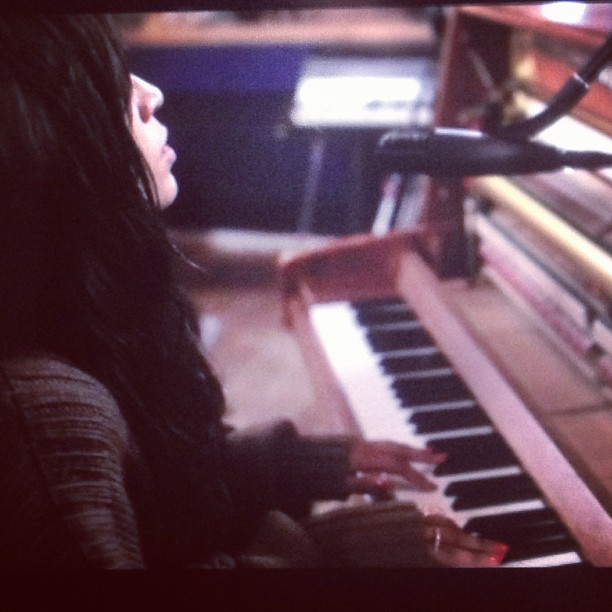 Loreen Recording New Material. Photograph Courtesy of Loreen Instagram