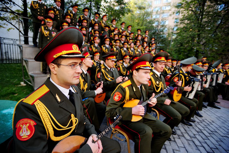Aleksandrov Ensemble Russian Army Choir. Photograph courtesy of ITAR TASS