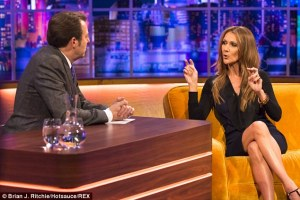 """Celine Dion On the """"Jonathan Ross Show"""". Photograph Brian T.Ritchie/Hotsacuse/REX"""