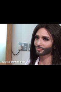 Conchita Wurst And Eurovision Ireland. Photograph Eurovision Ireland