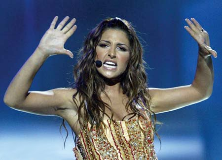 Eurovision Winner Elena Paparizou. Photograph YouTube