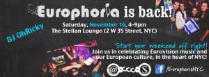 Euphoria Event in New York - November 16th. Photograph courtesy of Euphoria Facebook