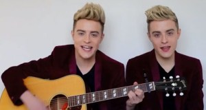 Jedward - Acoustic Set. Photograph courtesy of JedwardTV YouTube