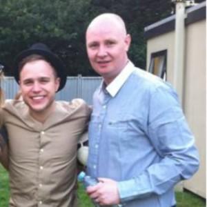 Mrk Murphy with Olly Murs - Eurosong 2014 Mentor. Photograph courtesy of ollymursdaily.tumblr
