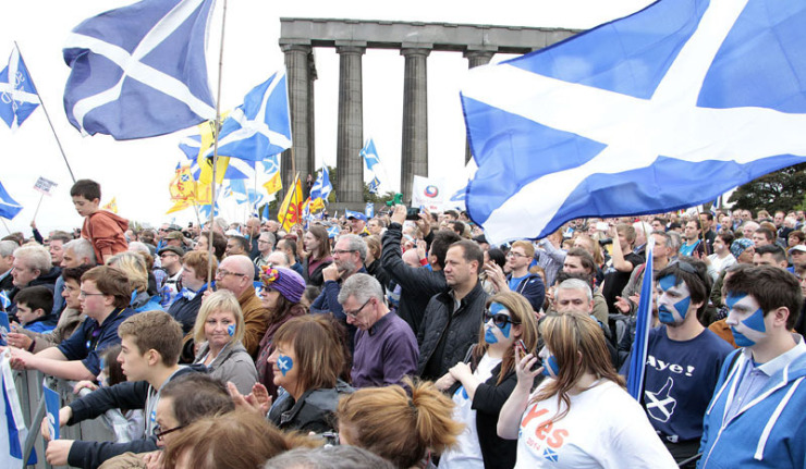 Scotland at Eurovision. Photo : EPA/GRAHAM STUART
