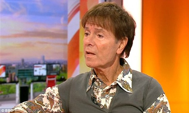 Sir Cliff Richard on BBC Breakfast. Photograph courtesy of BBC