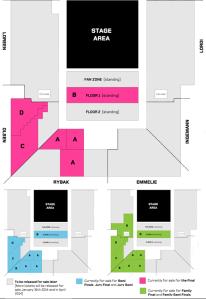 Ticket Map for Eurvoision 2014. Photo DR/EBU