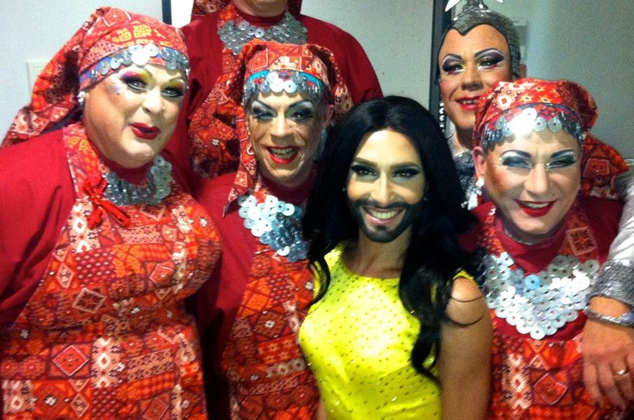 Conchita Wurst and the Wad Girls in Estonia. Photo : Courtesy of Conchita Wurst Facebook