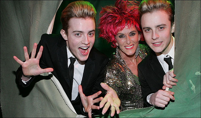 Jedward and Linda Martin cover Krista Siegfrid's Marry Me. Photo : The Sun