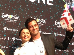 Sophie and Nodi at Eurovision 2013