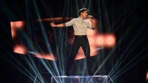 Alvaro Estrella at Melodifestivalen. Photo: Olle Kirchmeier / SVT