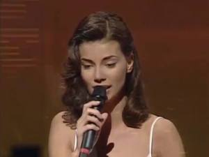 Edyta Górniak at Eurovision in 1994. Photo : RTE
