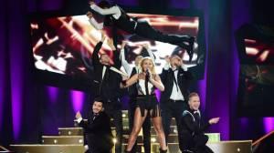 Elisa Lindstrom at Melodifestivalen. Photo: Olle Kirchmeier / SVT