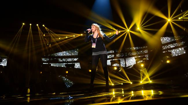 Helena Paparizou at Melodifestivalen. Photo: Olle Kirchmeier / SVT
