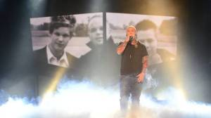Linus Svenning at at Melodifestivalen. Photo: Olle Kirchmeier / SVT