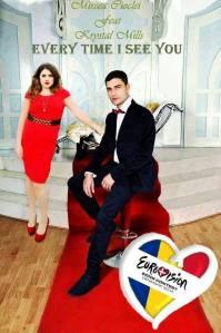 Mircea and Krystal - Eurovision Romania 2014. Photo : Krystal Mills Facebook