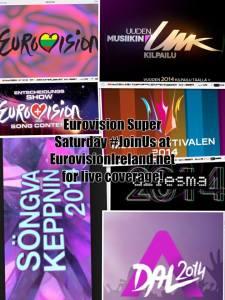 Eurovision Super Saturday. Photo : Eurovision Ireland and Wikipedia