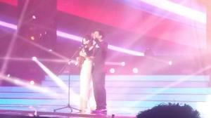 Gianluca and Ira on the ukulele. Photo : Eurovision Ireland