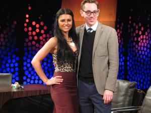 Kassey Smith and Ryan Tubridy. Photo : Eurovision Ireland